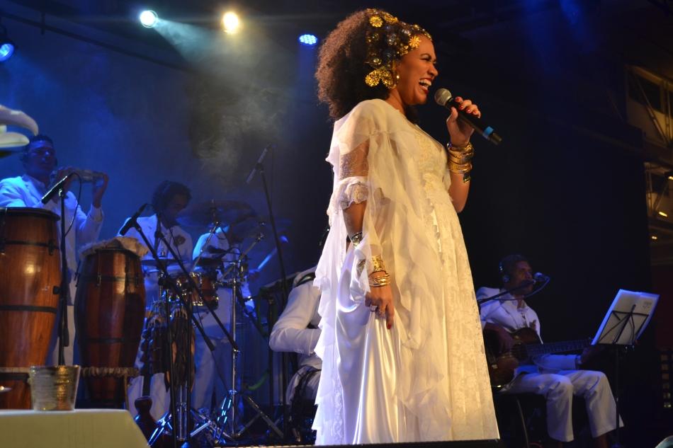 Mariene de Castro no palco do Sesc Belenzinho. 12.7.2013