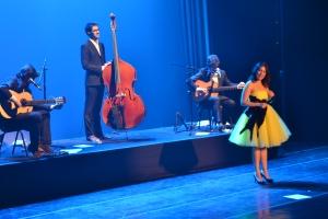 O grupo português Deolinda no palco do Sesc Santana. 28.7.2013