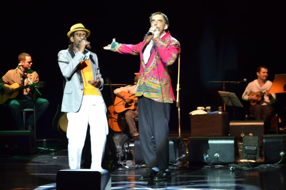 Luiz Melodia e Arnaldo Antunes no Palco do Sesc Vila Mariana. 21.7.2013