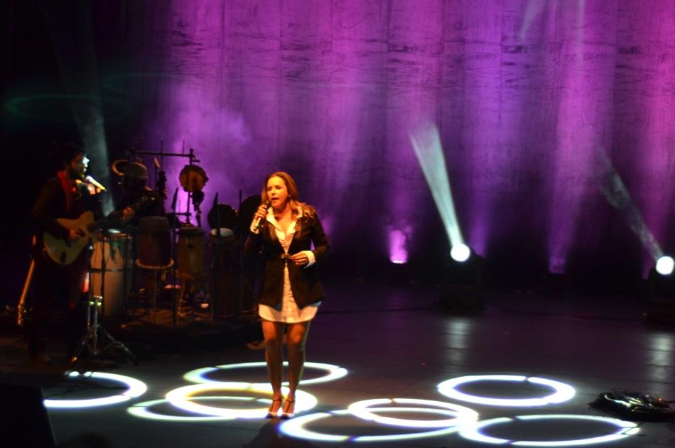 Daniela Mercury no palco do Sesc Pinheiros. 6.8.2013