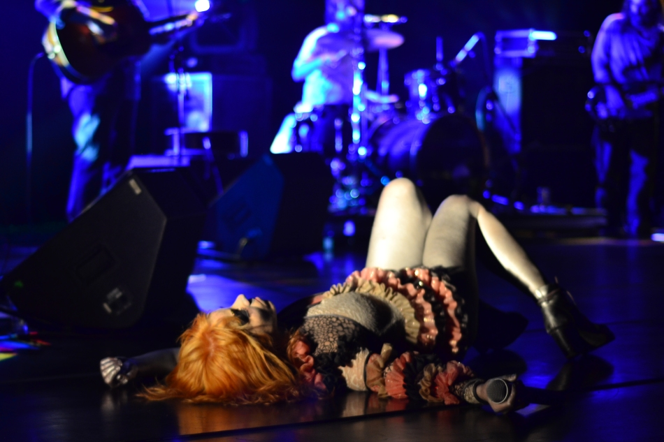 Karina Buhr no palco do Sesc Santana. 26.9.2013