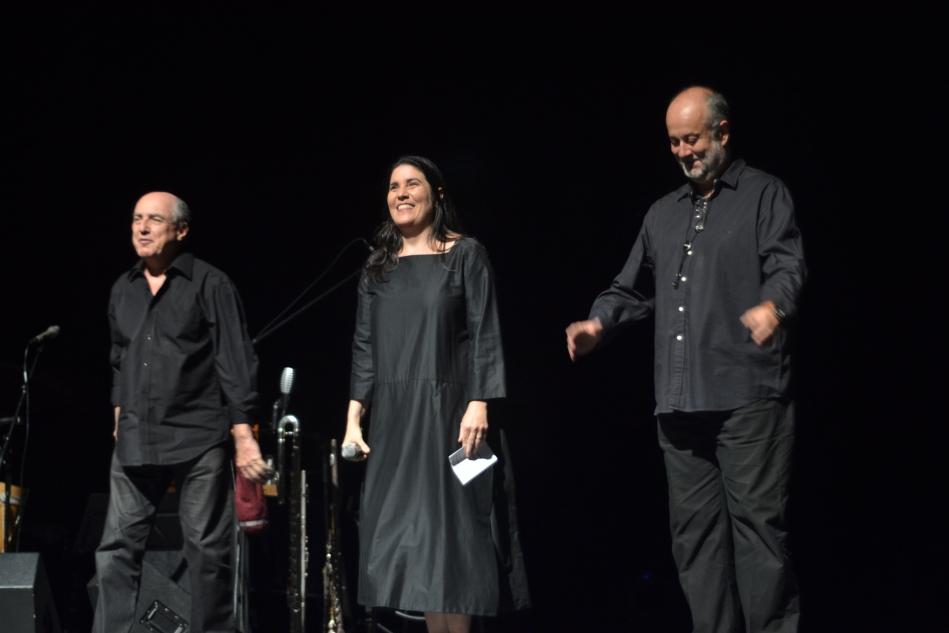 """Nelson Ayres, Monica Salmaso e Teco Cardoso no lançamento do dvd """"Alma Lírica Brasileira"""""""