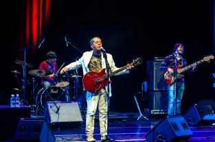 Hyldon no palco do Teatro Sesc Vila Mariana (Foto: Alexandre Eça)