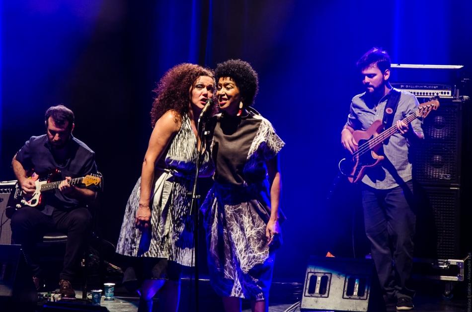 As cantoras Ceumar e Juçara Marçal (Foto Alexandre Eça)